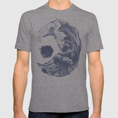 Swell LARGE Tri-Grey Mens Fitted Tee