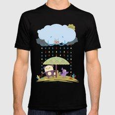 color raindrops keep falling on my head Mens Fitted Tee MEDIUM Black