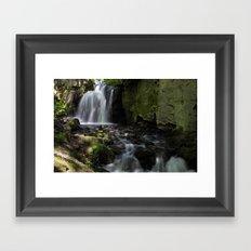 Waterfall at Lumsdale II Framed Art Print