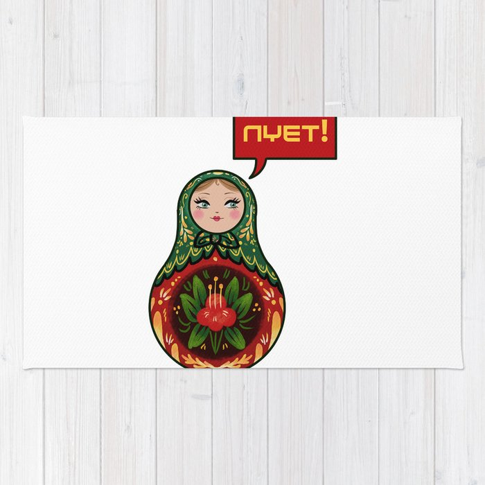 Russian Doll Nyet Rug