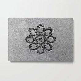 Atom Symbol, Atom Icon Metal Print
