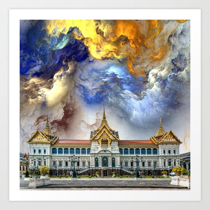 Palace in heaven Art Print