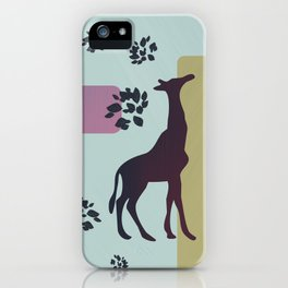 Giraffe and objects iPhone Case