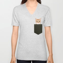 Chase - Cute Cat gifts for pet lovers cat lady gifts and perfect gifts for cat person and cute tabby Unisex V-Neck