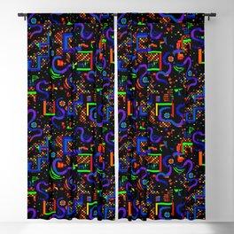 Neon Pixel Pattern Blackout Curtain
