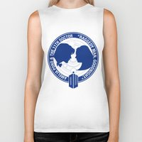 amy pond Biker Tanks featuring Doctor Who pals: Matt Smith & Amy Pond by logoloco