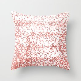 Modern abstract rose gold white confetti pattern Throw Pillow
