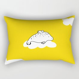 Flying Manatee by Amanda Jones Rectangular Pillow