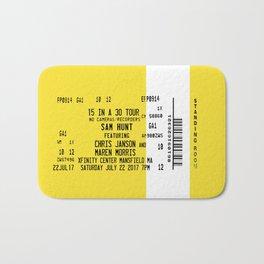 Concert Ticket Stub - Sam Hunt 15 in a 30 Bath Mat
