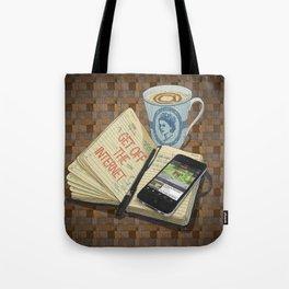 Internet Addict Tote Bag