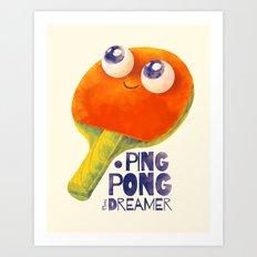 Ping-pong dreamer Art Print