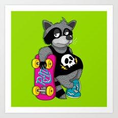 Really Radical Raccoon Art Print