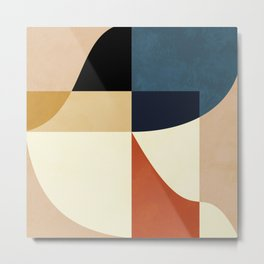 mid century abstract shapes fall winter 14 Metal Print