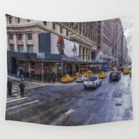broadway Wall Tapestries featuring Times Square by Ian Mitchell