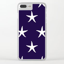 Nautical Seamless Collection 35 - starfish Clear iPhone Case
