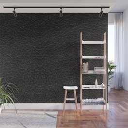 Black Leather Realistic Print Wall Mural