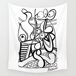 Pablo Picasso Large still life with pedestal, Grande nature morte au guéridon Artwork, Tshirts, Prints, Posters, Men, Women, Kids Wall Tapestry