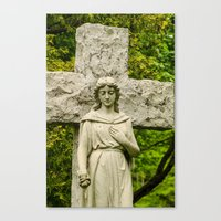 religious Canvas Prints featuring Religious Statue by Michael Moriarty Photography