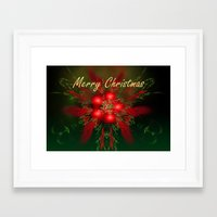 merry christmas Framed Art Prints featuring Merry Christmas by Roger Wedegis