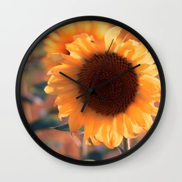 Soon she donates seeds for the birds the sunflower Wall Clock