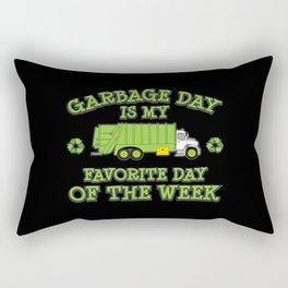 Fun Garbage Day Garbage Truck Gifts Trash Can Trash Day Rectangular Pillow