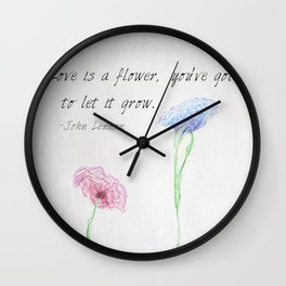 Love is a Flower Wall Clock