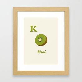 K is for kiwi Framed Art Print