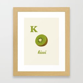 K is for kiwi Framed Art Print