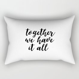 Kitchen Decor,Quote Prints,Home Decor,Quote Art,Hand Lettering,Home Decor,Funny Print,Together We Ha Rectangular Pillow