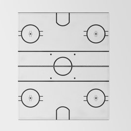Ice Hockey Rink Throw Blanket