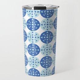 pattern blue Travel Mug