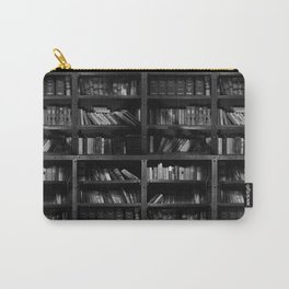 Antique Library Shelves - Books, Books and More Books Carry-All Pouch