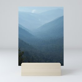 Morning mountains going into the distance Mini Art Print