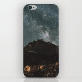 Space Night Mountains - Landscape Photography iPhone Skin