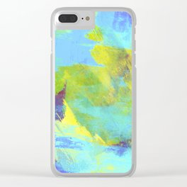 Hint Of Summer - Abstract, textured painting Clear iPhone Case