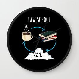 Law School Graduate Student College Gift Wall Clock