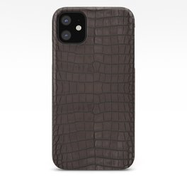 Alligator Brown Leather Print iPhone Case