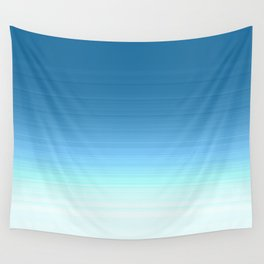 Sea blue Ombre Wall Tapestry