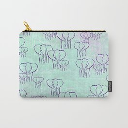Pastel Elephants Carry-All Pouch