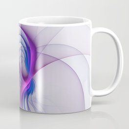 From Magenta to Blue, Abstract Fractal Art Coffee Mug