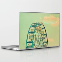 ferris wheel Laptop & iPad Skins featuring Ferris Wheel  by RDelean