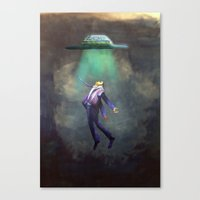 ufo Canvas Prints featuring UFO by Candy Lin
