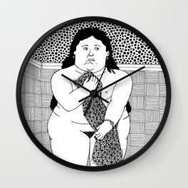 Botero - Woman in bath Wall Clock