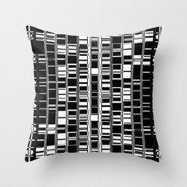 Bar Code Black and White Abstract Design Throw Pillow