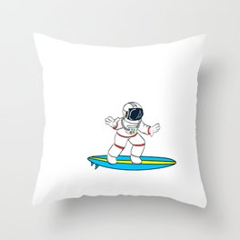 Are You A Fan Of Astronomy? An Astronaut Dreamer? Here's An Antronaut T-shirt Surfing on Space Wave Throw Pillow