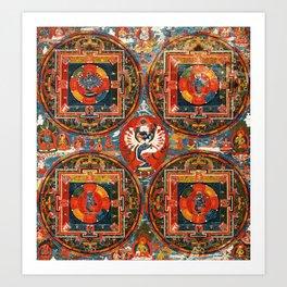 Buddhist Mandala Hevarja Tantra Art Print
