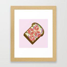 Avocado Tomato sandwich Framed Art Print