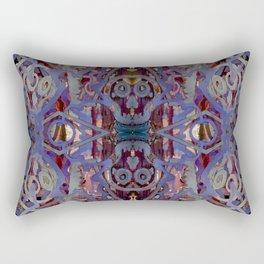 Skulls Purple Rouge Rectangular Pillow