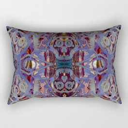Skulls Purple Rouge Rectangular Pillow