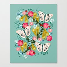 Buckeye Butterly Florals by Andrea Lauren  Canvas Print